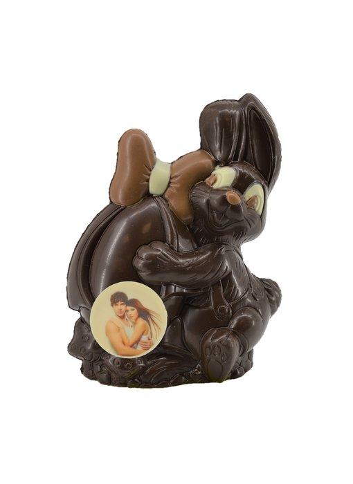 Chocolaterie Vink Paashaasje met foto