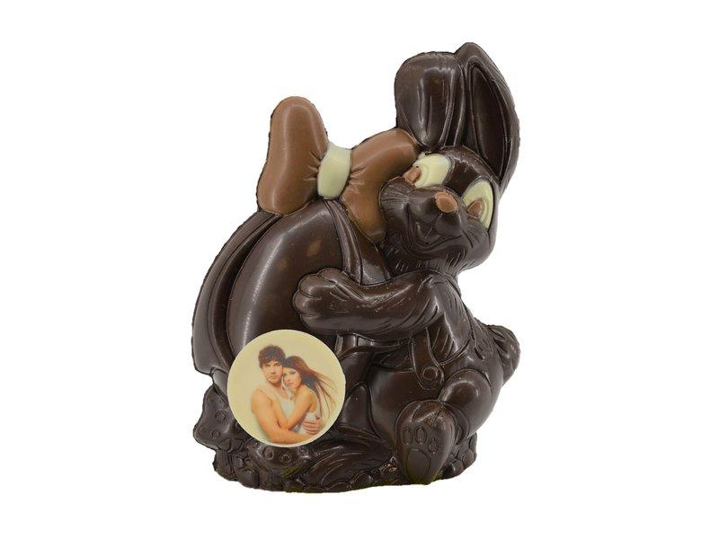 Chocolaterie Vink Chocolade paashaasje met foto