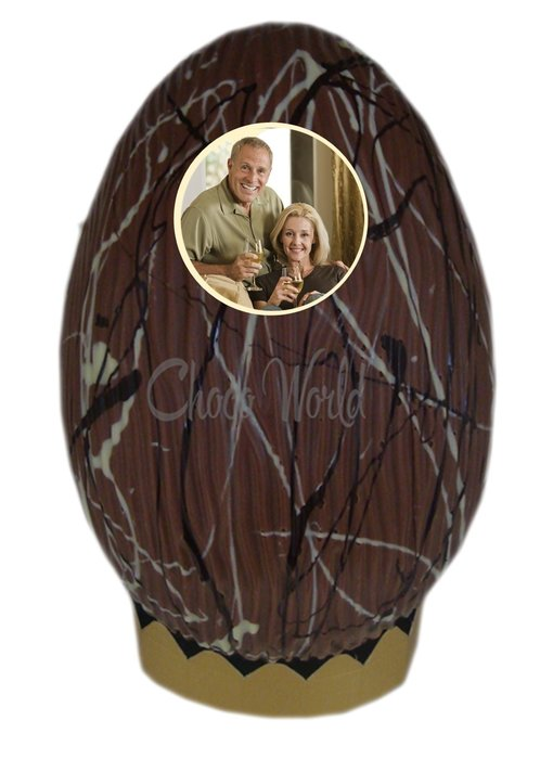 Chocolaterie Vink Paasei  Kingsize Art Deco met foto