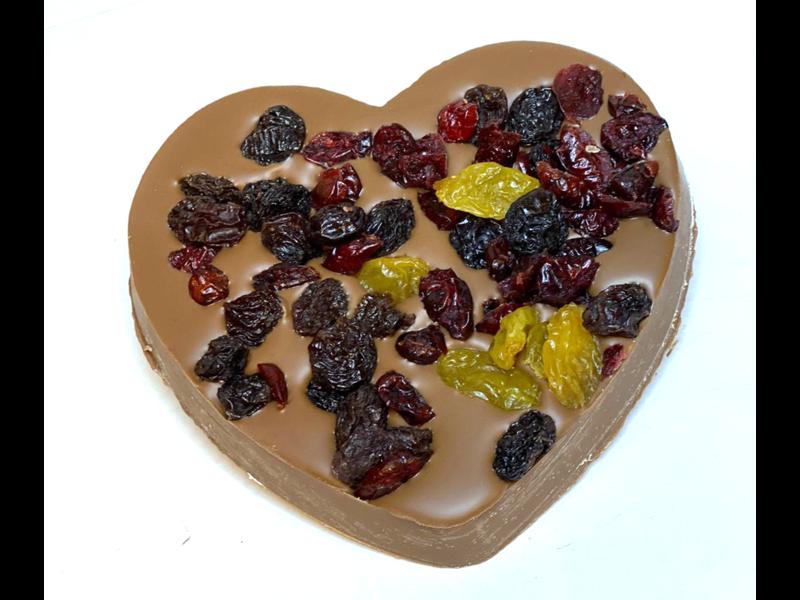 Chocolaterie Vink Hart klein met Cranberrie mix