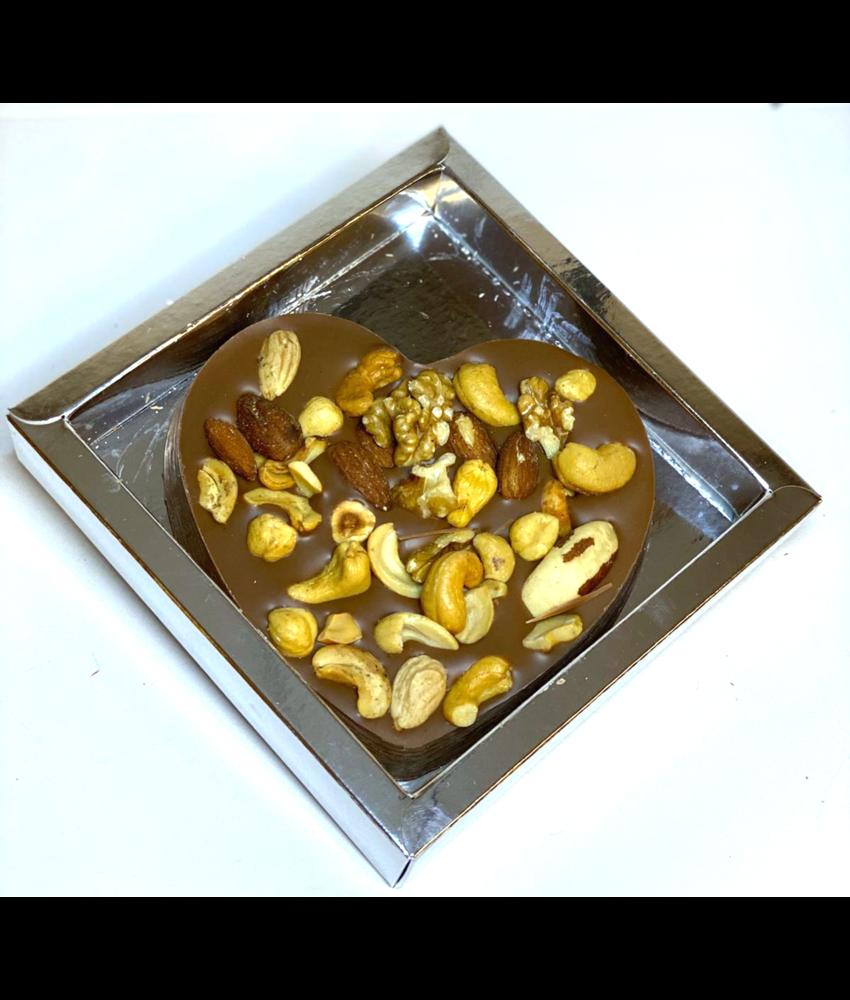 Chocolaterie Vink Hart klein met Notenmix