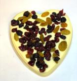 Chocolaterie Vink Hart groot met Cranberrie mix