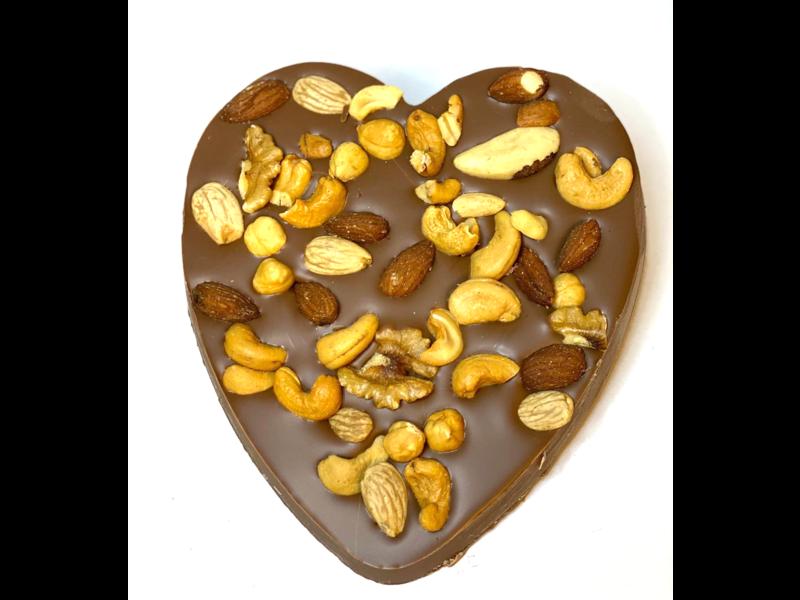 Chocolaterie Vink Hart groot met Notenmix
