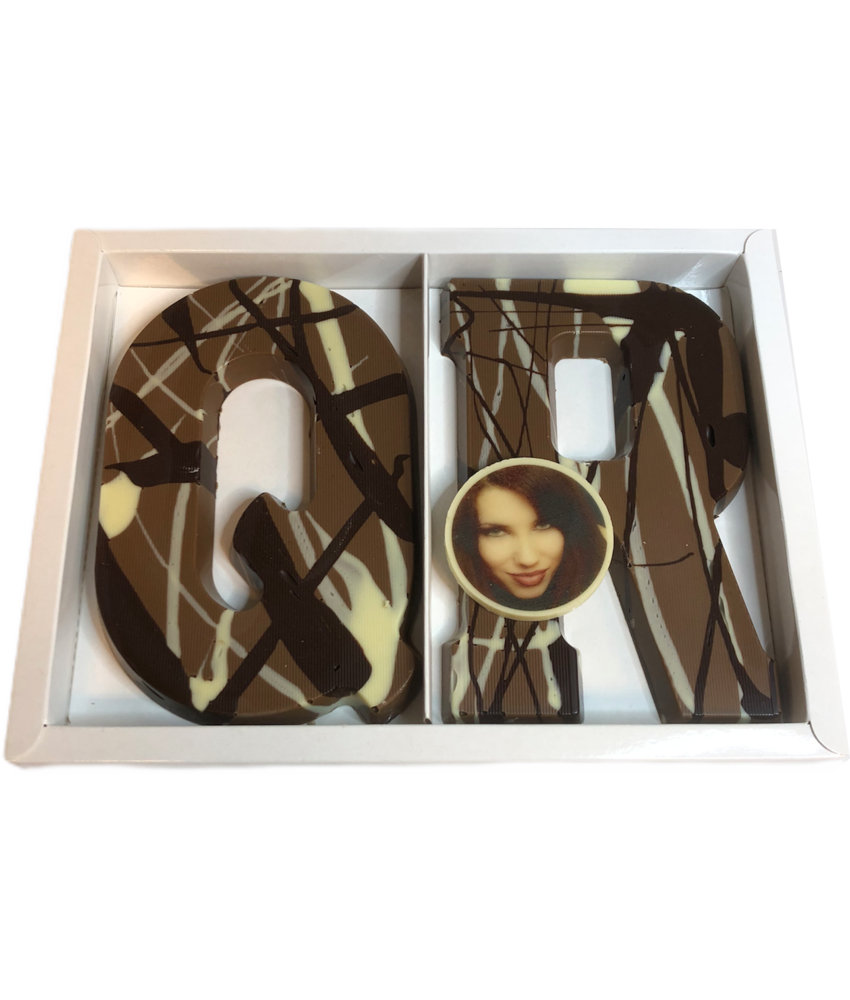 Chocolaterie Vink Letter Art Deco dubbel met foto