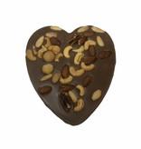 Chocolaterie Vink Hart groot met Macadamia mix