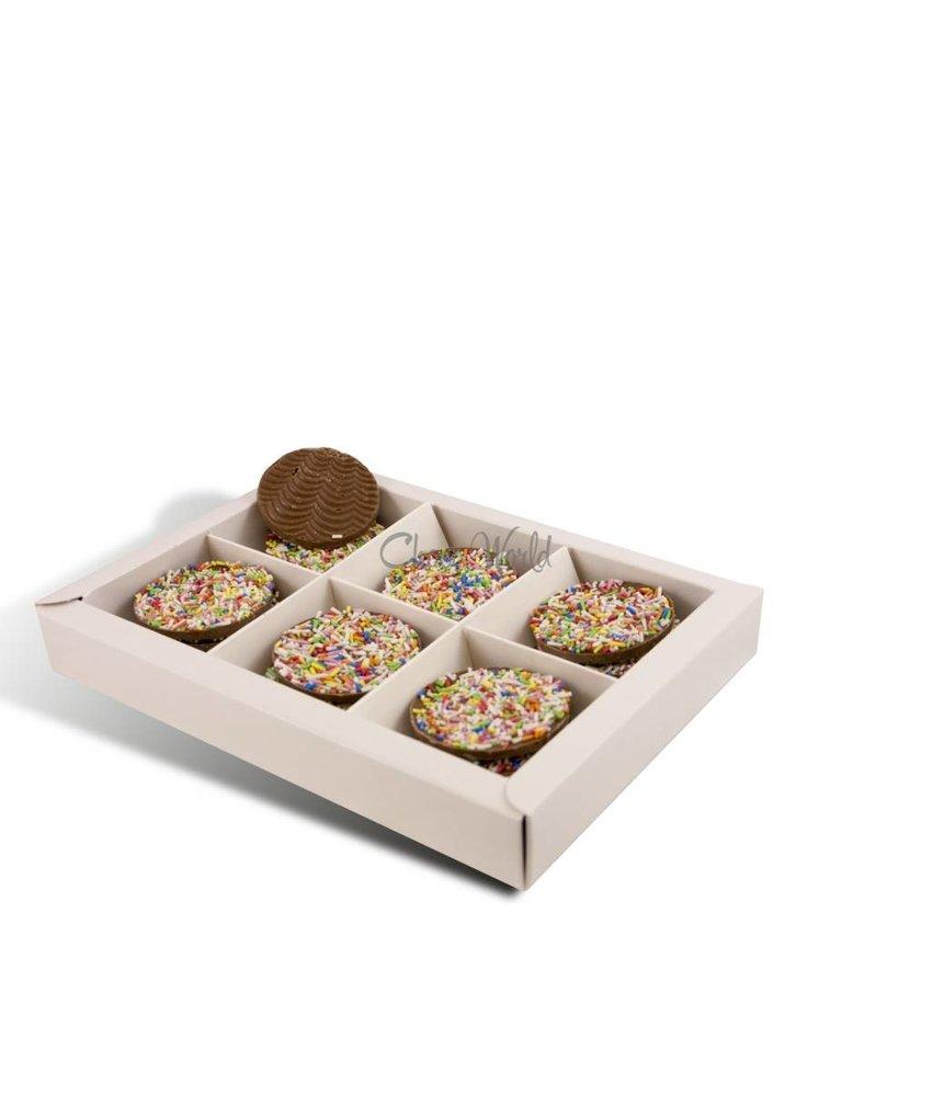 Chocolaterie Vink Flikken met gekleurde hagelslag