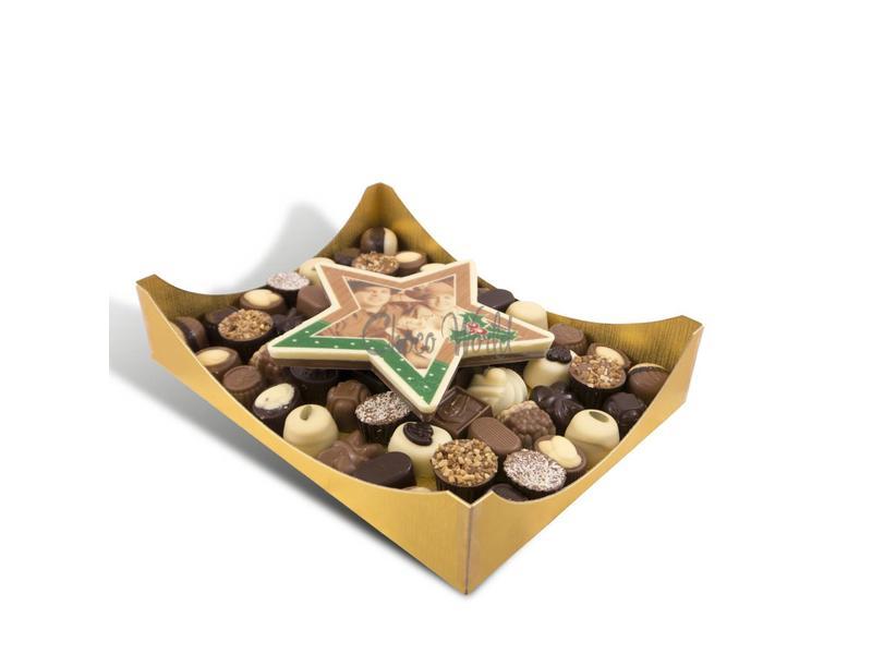 Chocolaterie Vink Slagroom bonbons assortie groot met chocolade kerstster