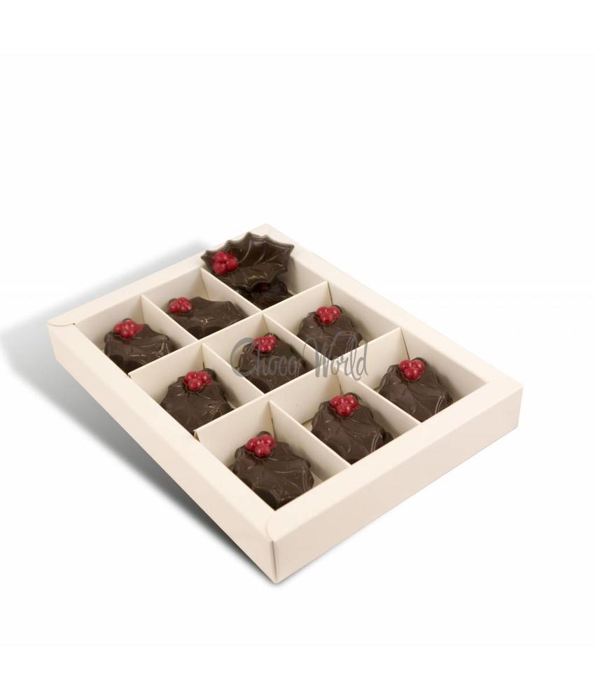 Chocolaterie Vink Chocolade Hulstblaadjes puur