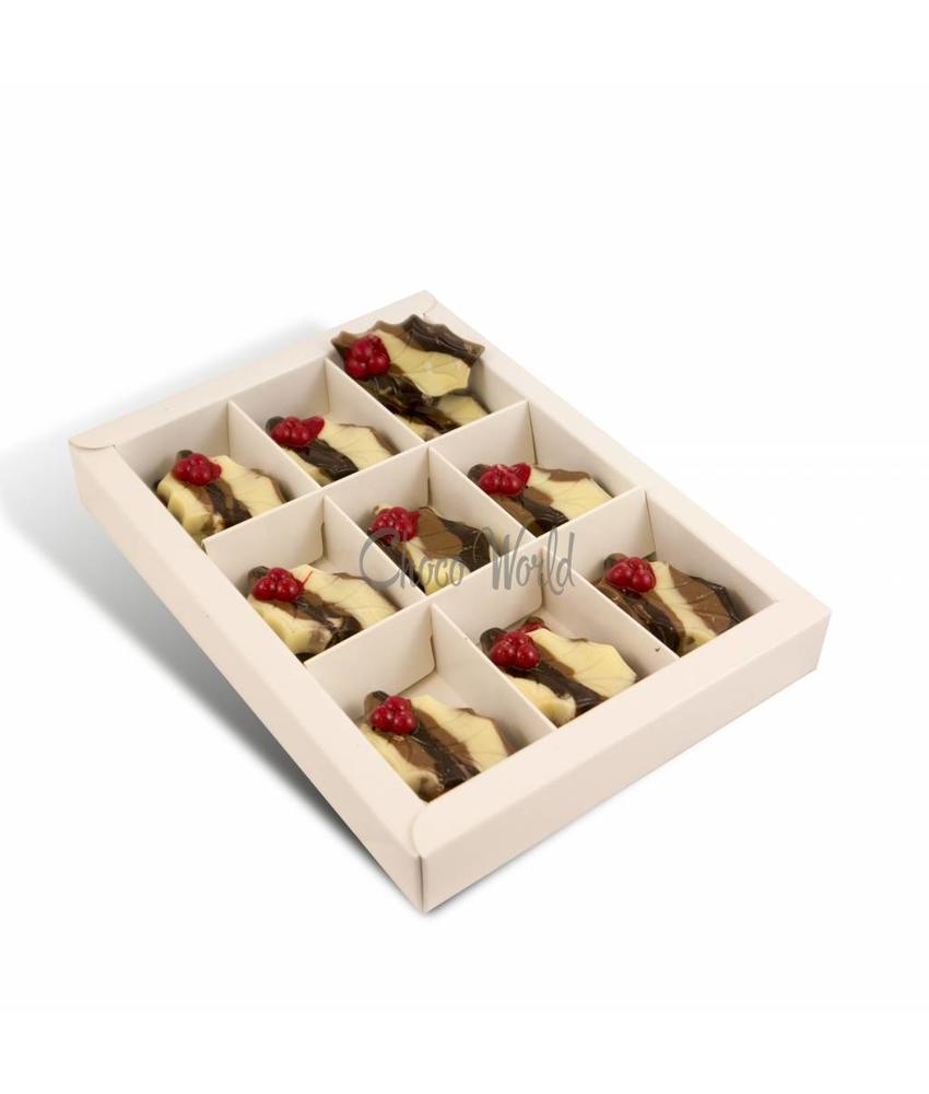 Chocolaterie Vink Chocolade Hulstblaadjes Gemarmerd