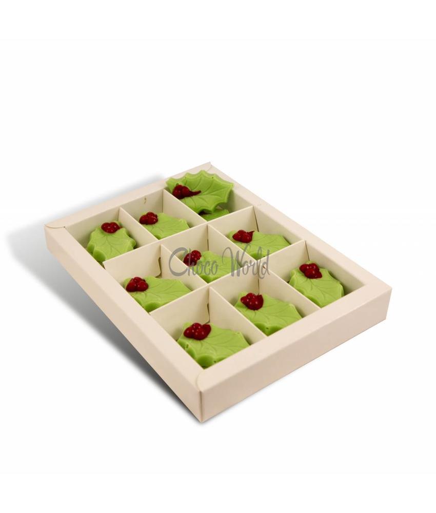 Chocolaterie Vink Chocolade Hulstblaadjes Groen