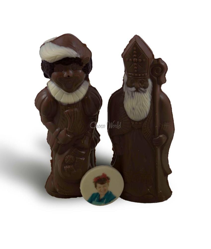 Chocolaterie Vink Chocolade Sint en Piet melk met foto