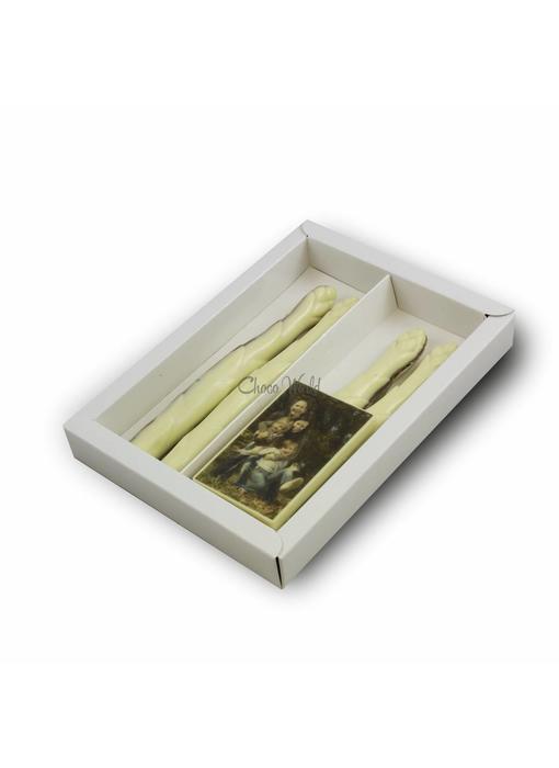 Chocolaterie Vink Asperge Gevuld met foto/logo