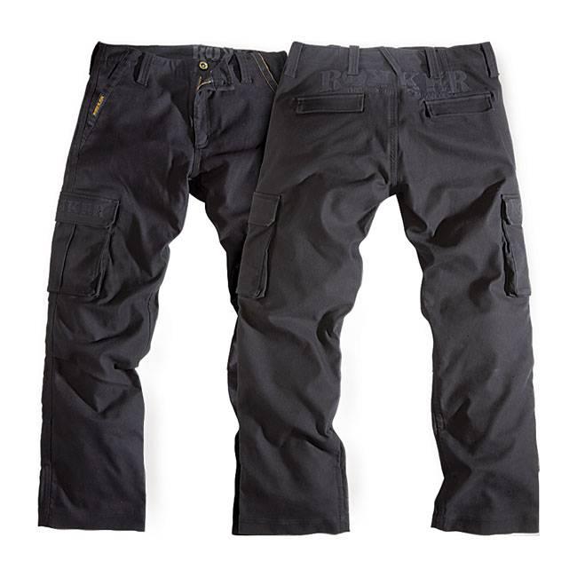 Rokker Cargo Pants Black Jack