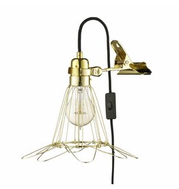 Clamp Lamp Lux, brass