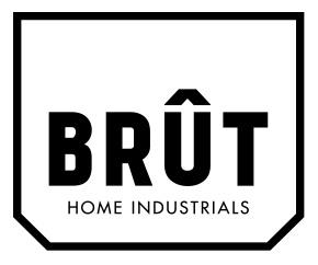 Brut Homeware shelf supports Brut Industrials