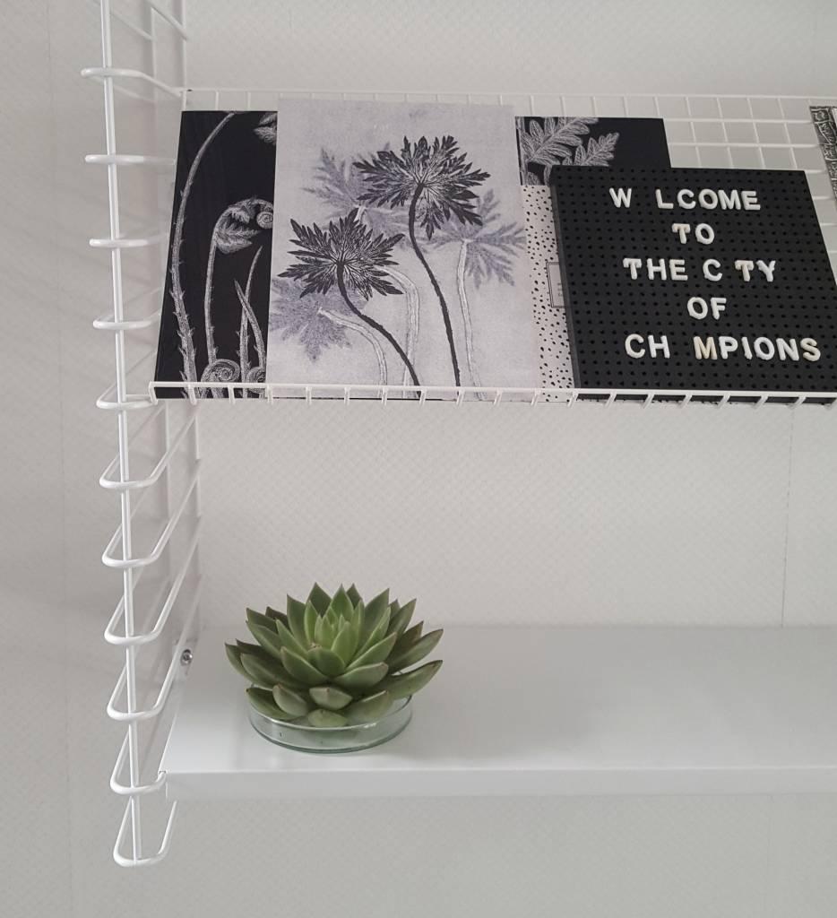 Stoer Metaal literatuurplank, inlegplank, zwart of wit