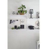Stoer Metaal literature shelf, shelf, black or white