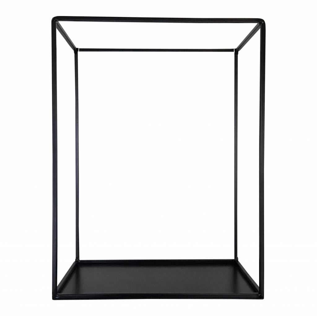 Stoer Metaal Outline wall cabinet, black