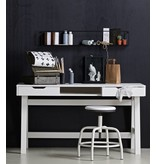 Woood wall shelf Meert, black, 50 or 100 cm