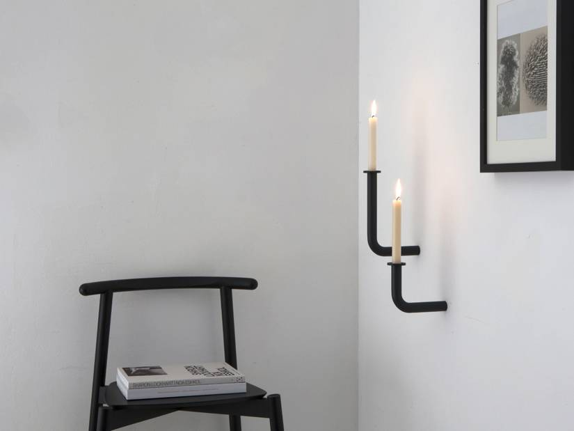 Studio Frederik Roije wall sconces Wall of Flame, anthracite