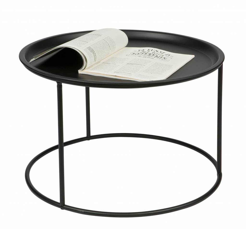Woood Side table Ivar, L, black