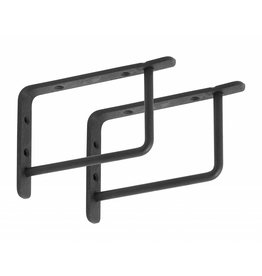 Nordal black shelf brackets