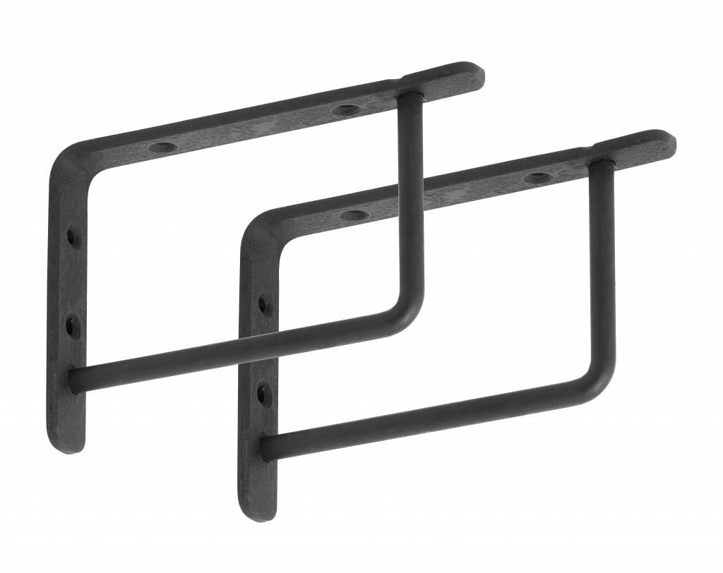Stoer Metaal zwart metalen plankdragers