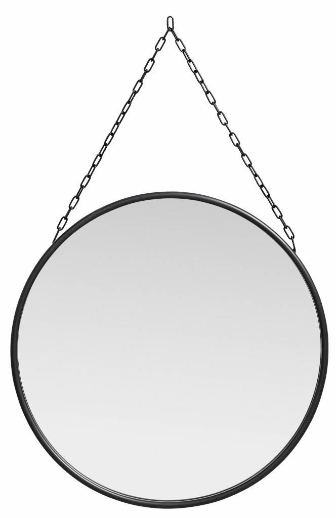 Nordal Downtown mirror, round with chain