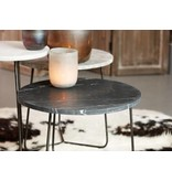 LifeStyle side table Minnesota, marble, black