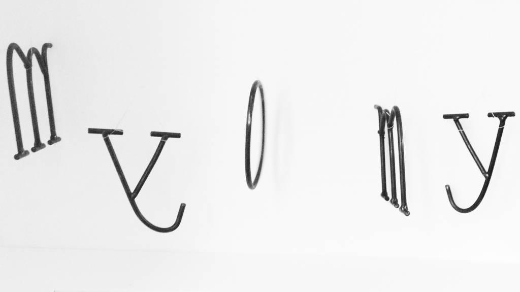Stoer Metaal ijzeren letter