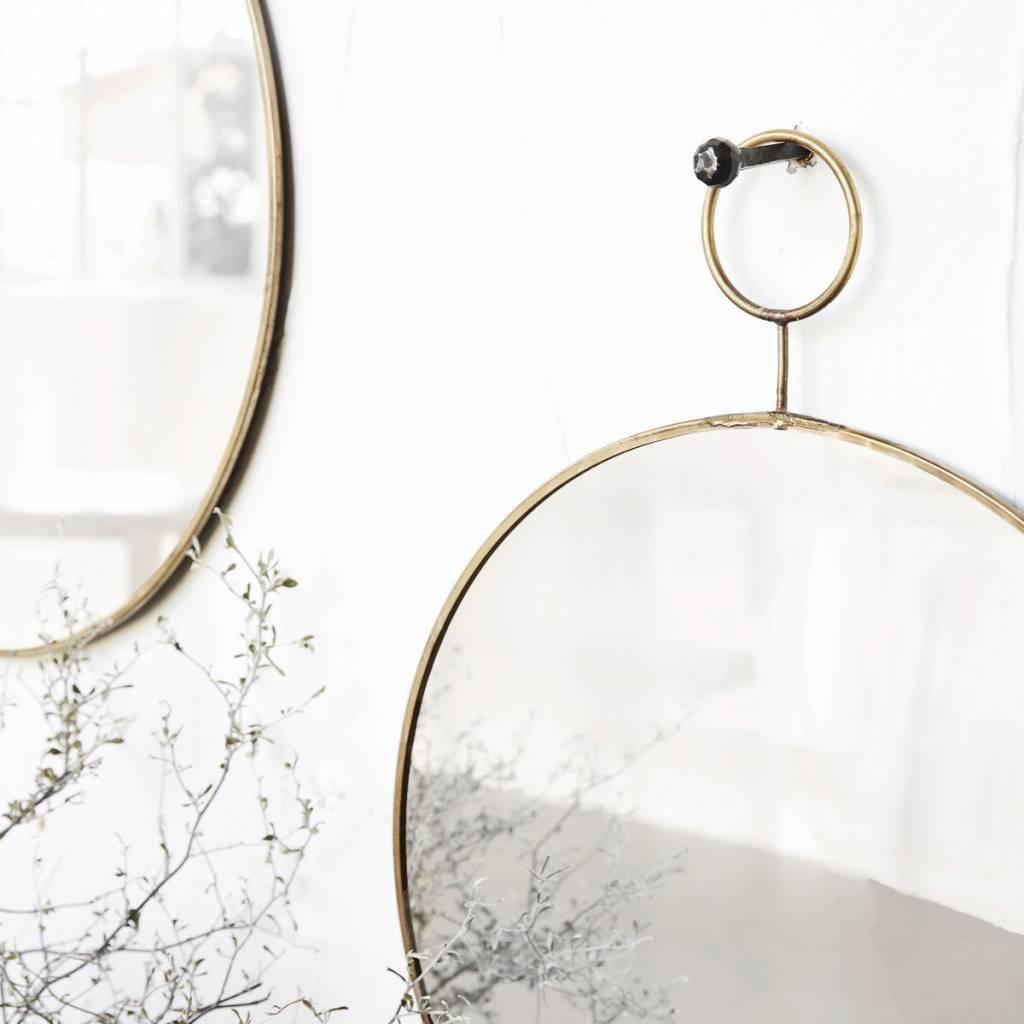 House Doctor spiegel The Loop, goudkleurig