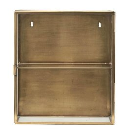 House Doctor display case, gold-colored