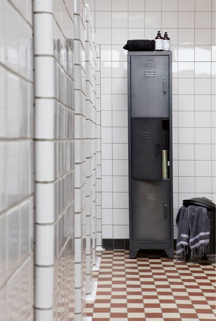 Woood metalen lockerkast Cas, 3 deurs