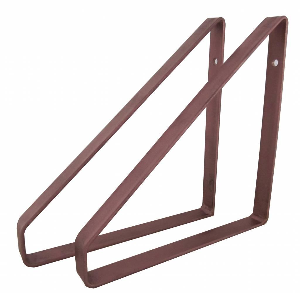 Stoer Metaal plankdragers koperkleurig, 21 of 31 cm
