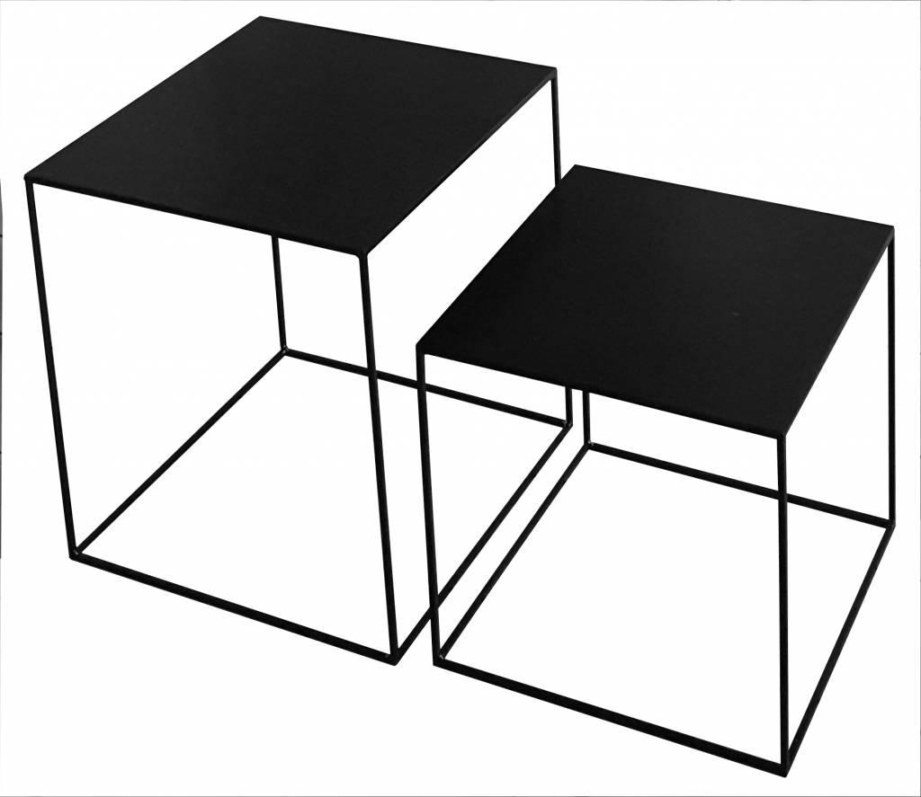 Stoer Metaal side table Cube, black