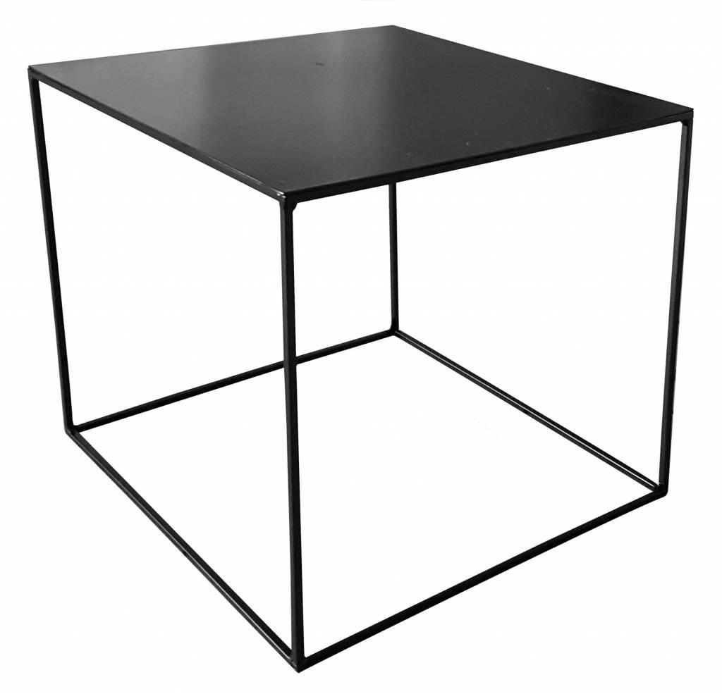 Side Table Metaal.Stoer Metaal Side Table Cube Black