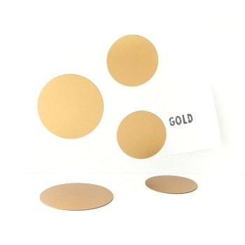 Groovy Magnets magneetjes, rond goud