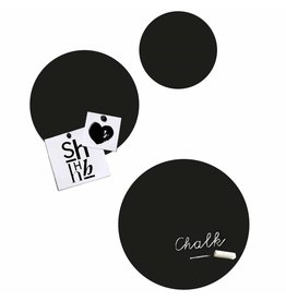 Groovy Magnets chalkboard magnet sticker, Circles