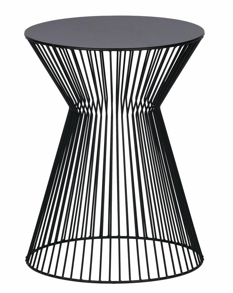 Woood bijzettafel/salontafel Suus, zwart