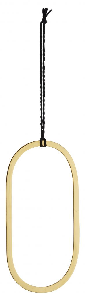 Madam Stoltz decoration pendant gold, oval
