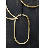Madam Stoltz decoratie hanger goud, ovaal