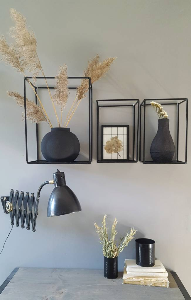 Stoer Metaal Outline wall cabinet, black