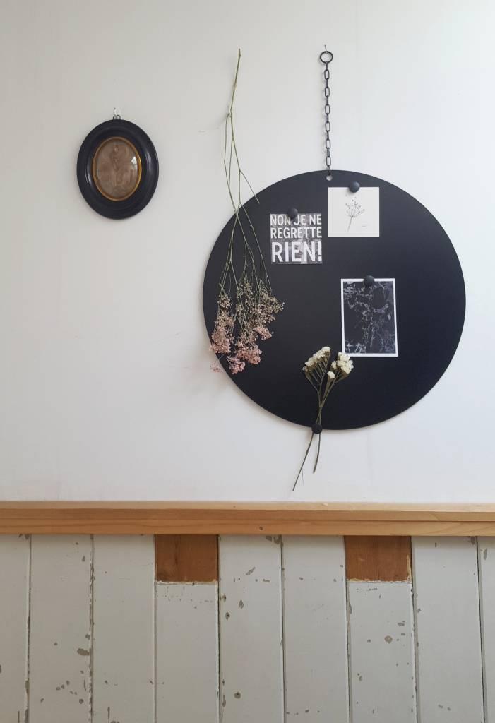 Stoer Metaal magnetic board Round, black