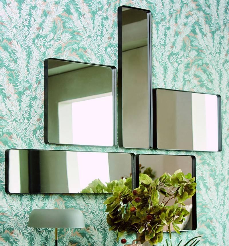 LifeStyle spiegel Nahla, rechthoekig, zwart