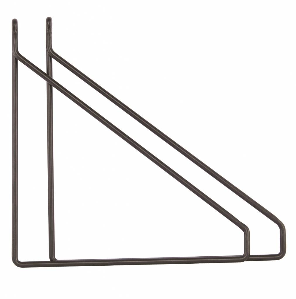 House Doctor black shelf supports Apart