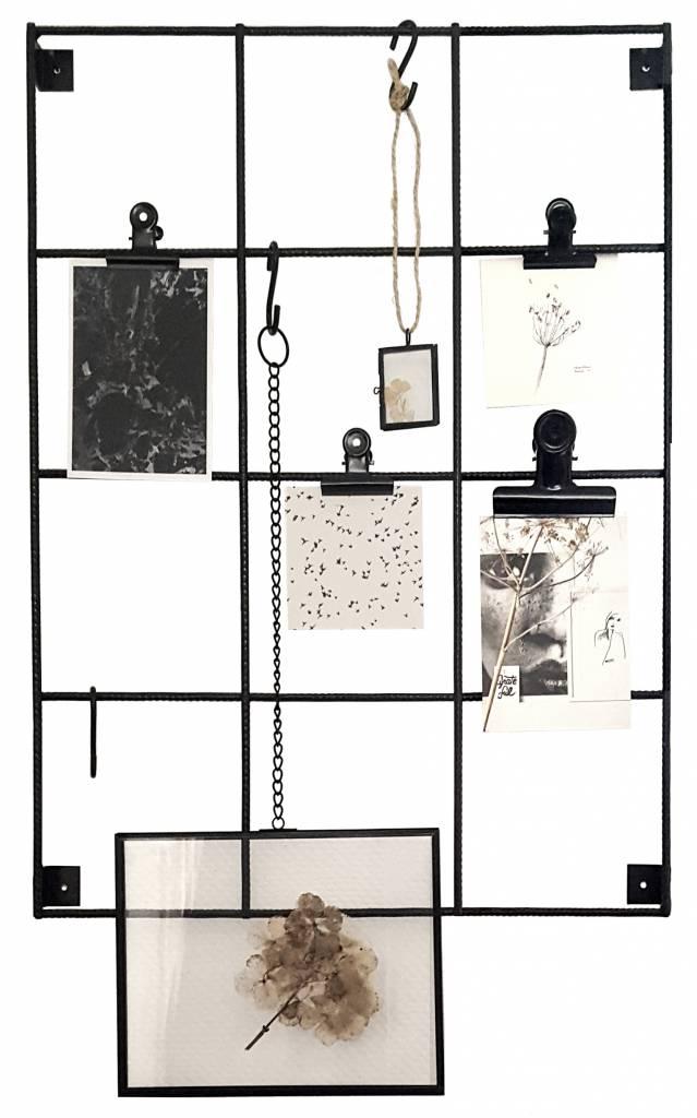 Stoer Metaal showrek wall rack, black