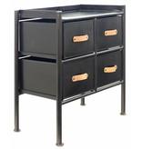 New Routz  ijzeren kastje met lades, Jersey, zwart