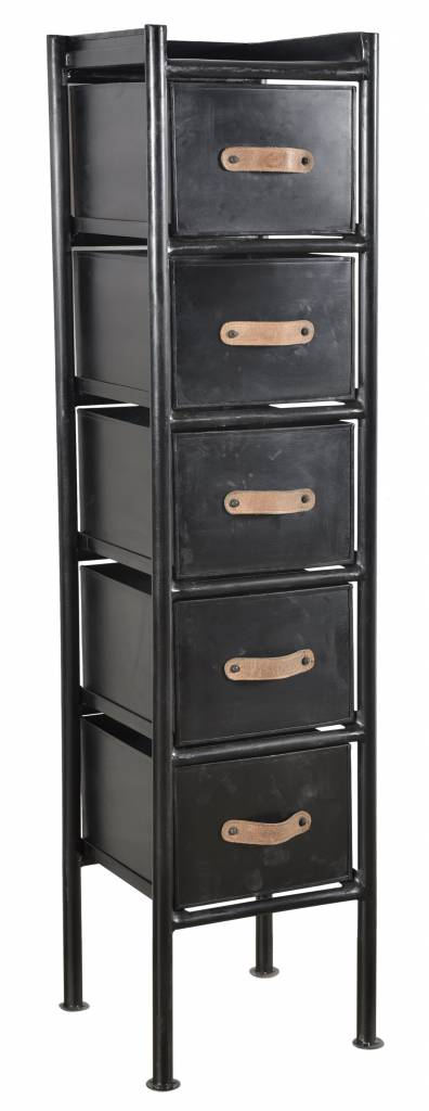 New Routz metal chest of drawers Atlanta, black