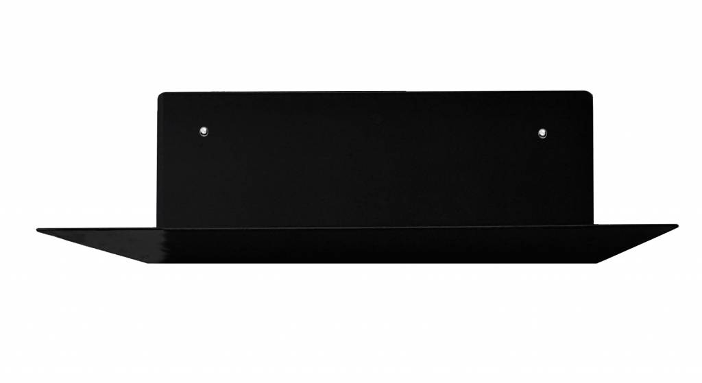 Stoer Metaal wall shelf Diep, black, black or white