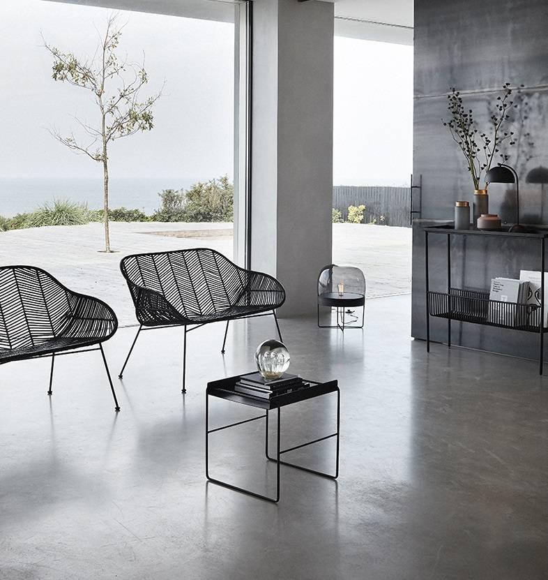 Hübsch salontafel, zwart